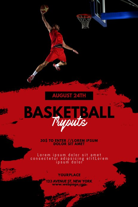 Basketball Tryout Flyer Template Fresh Basketball Tryouts Flyer Template