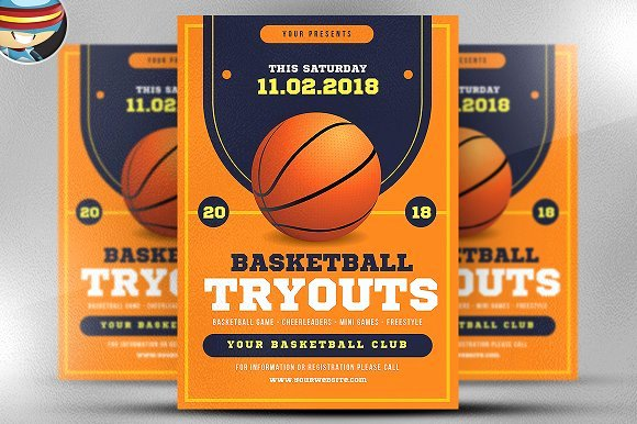 Basketball Tryout Flyer Template Fresh Free Basketball event Flyer Templates Polarview