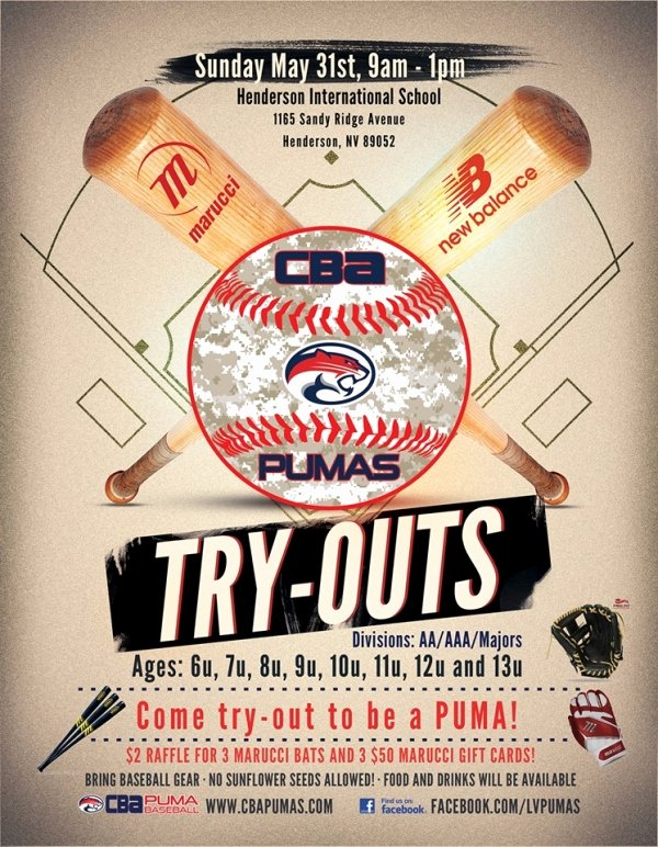 Basketball Tryout Flyer Template Inspirational Cba Pumas Youth Baseball Team Tryouts