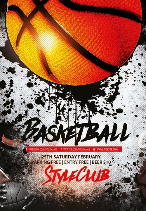 Basketball Tryout Flyer Template Luxury Basketball Free Sport Flyer Template Download Flyer