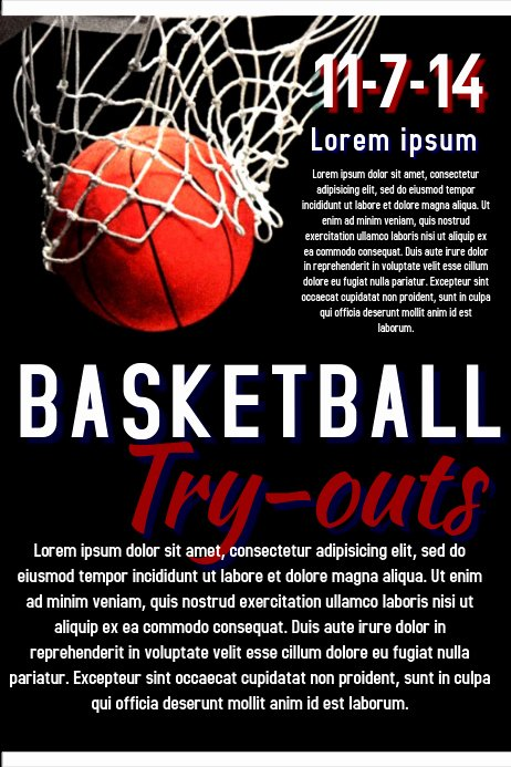 Basketball Tryout Flyer Template Luxury Basketball Try Out Template