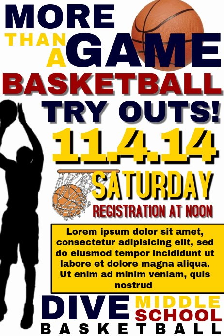 Basketball Tryout Flyer Template Luxury Basketball Tryout Template