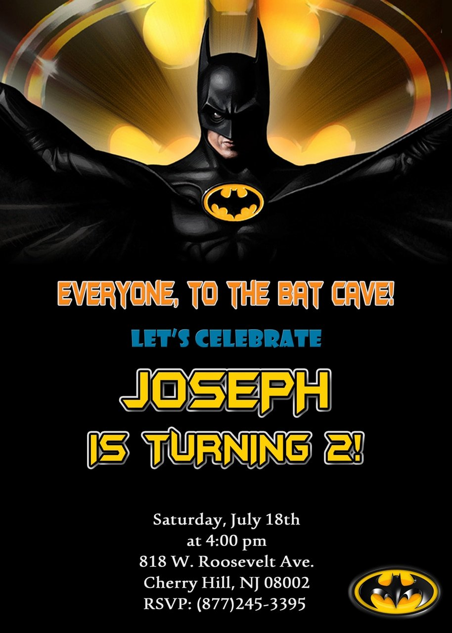 Batman Birthday Invitation Templates Beautiful Batman Birthday Invitations Partyexpressinvitations