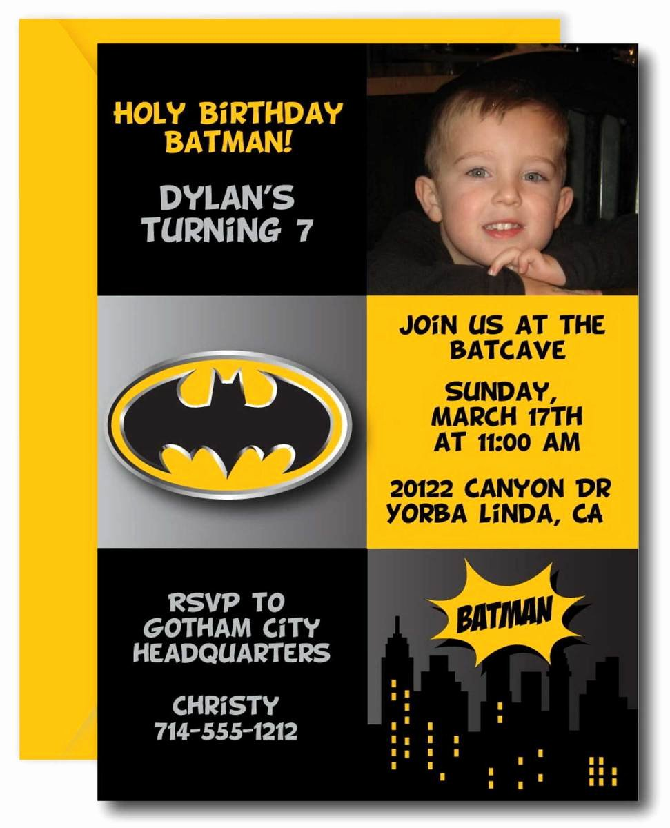 Batman Birthday Invitation Templates Beautiful Batman Birthday Party Invitation – Announce It