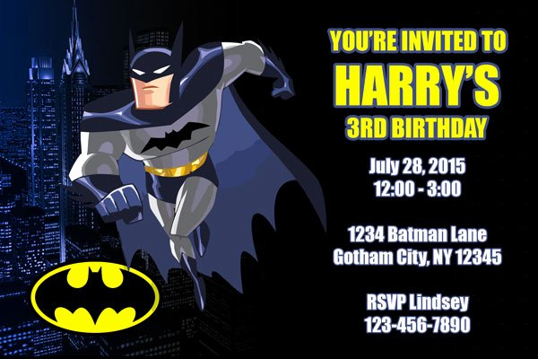 Batman Birthday Invitation Templates Beautiful Batman Invitations General Prints