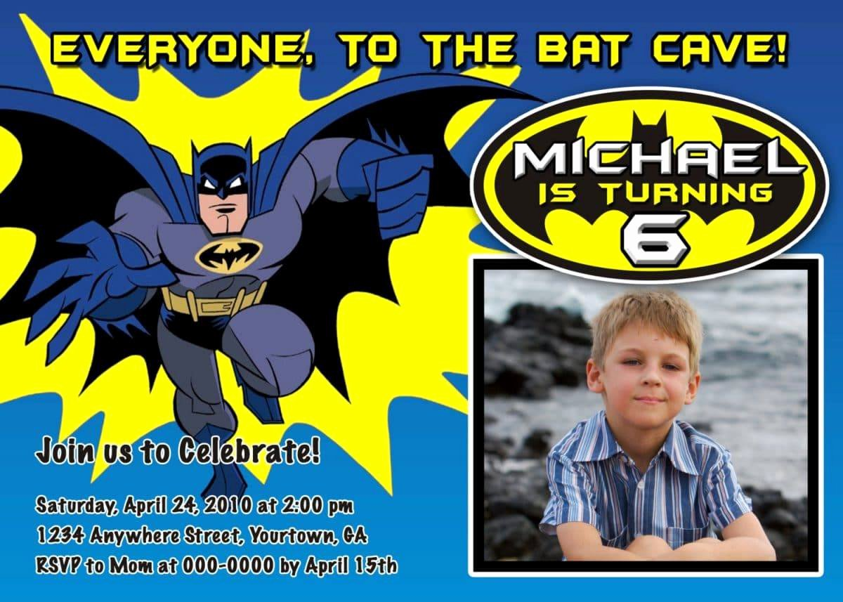 Batman Birthday Invitation Templates Best Of Batman Birthday Invitation Templates Free
