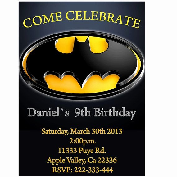 Batman Birthday Invitation Templates Fresh 17 Best Images About wholly 3rd Birthday Batman On