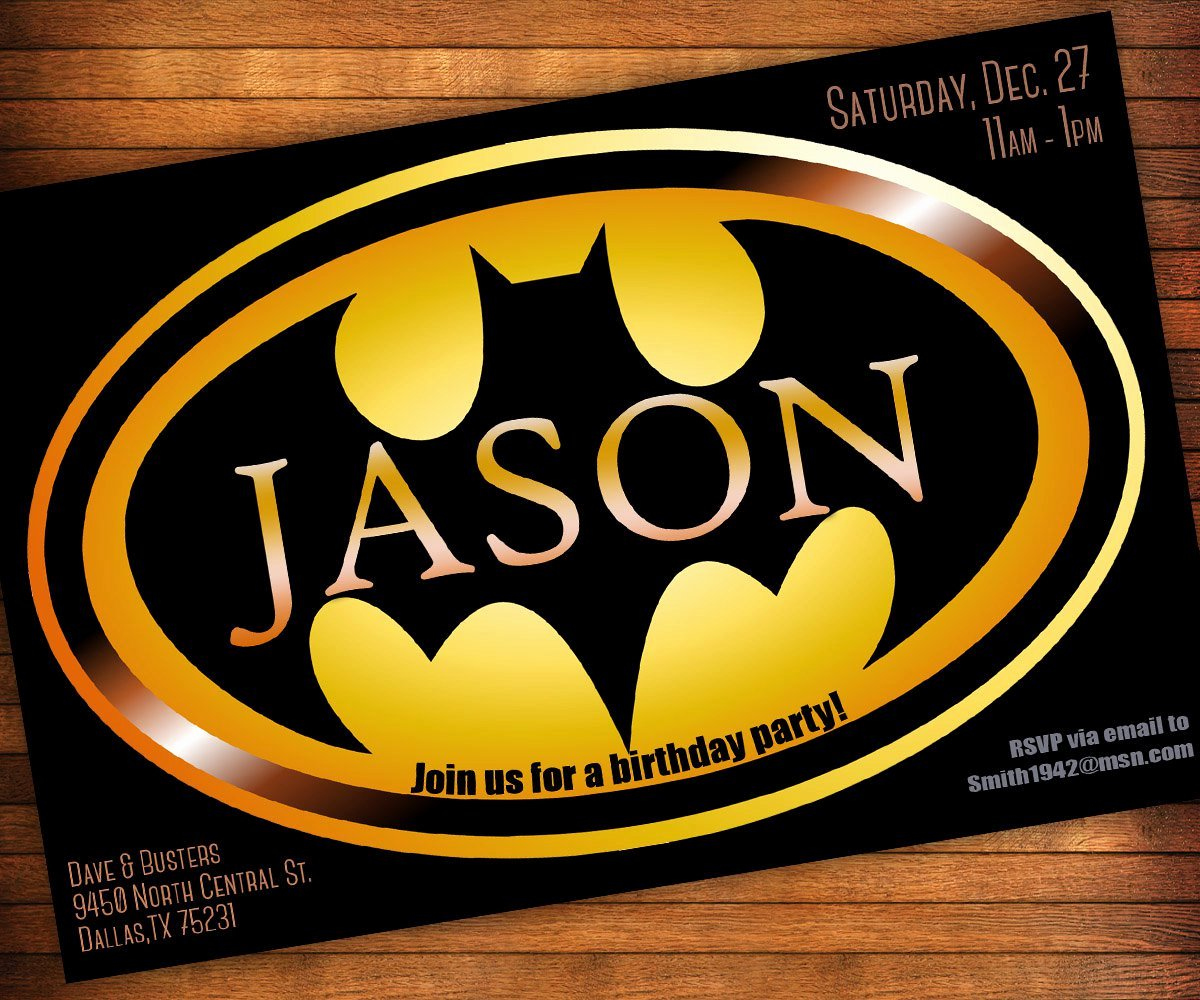 Batman Birthday Invitation Templates Fresh Batman Birthday Invitation Wording