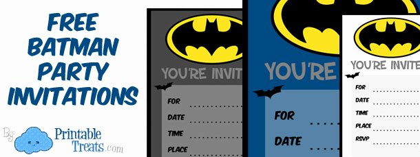 Batman Birthday Invitation Templates Lovely Batman Birthday Invitations to Print — Printable Treats