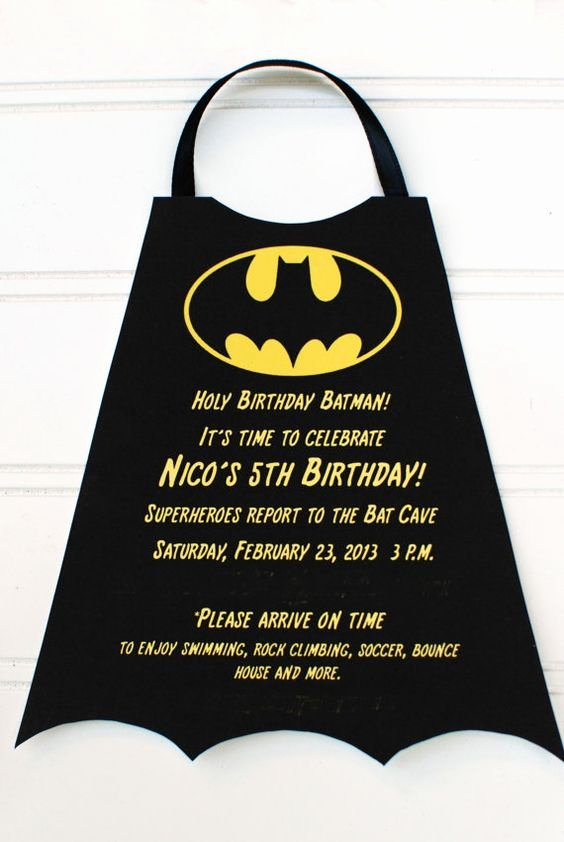 Batman Birthday Invitation Templates Luxury 10 Superheroes Superhero Batman Birthday Invitations by
