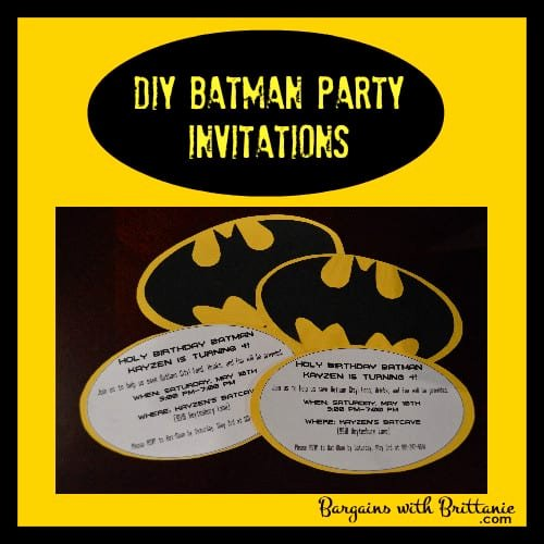 Batman Birthday Invitation Templates New Diy Batman Party Invitations Simplistically Living
