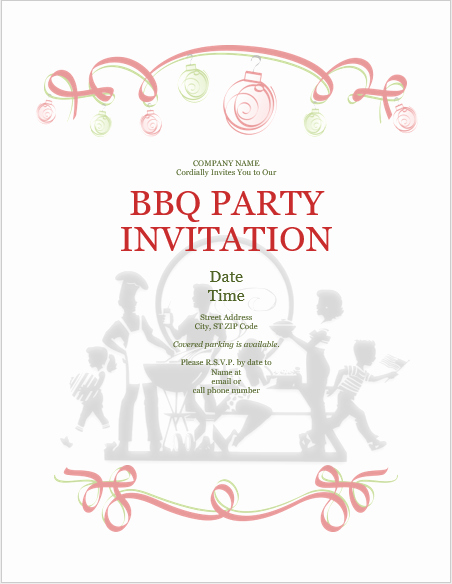 Bbq Invitation Template Word Awesome Bbq Barbeque Party Invitation Templates Templates Bash