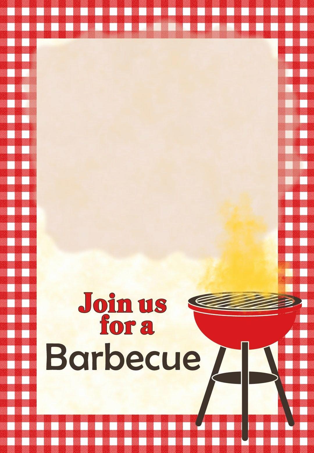 Bbq Invitation Template Word Beautiful A Barbecue Free Printable Party Invitation Template Greetings island