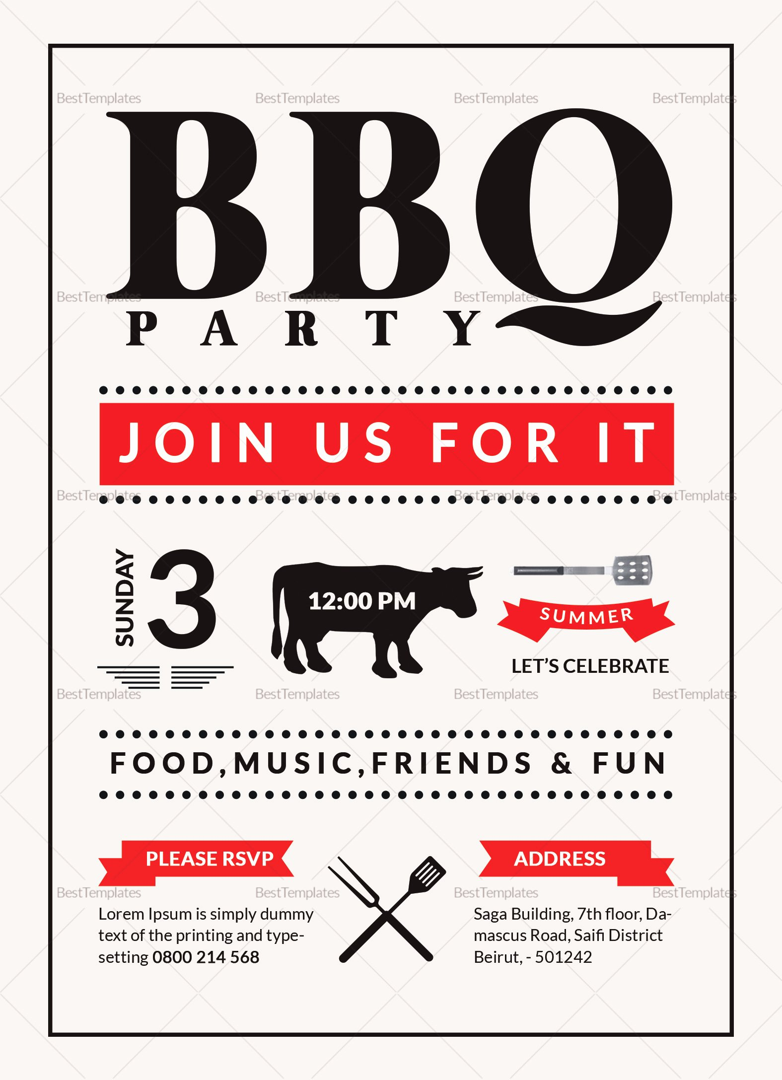 Bbq Invitation Template Word Best Of Barbecue Party Invitation Design Template In Word Psd Publisher
