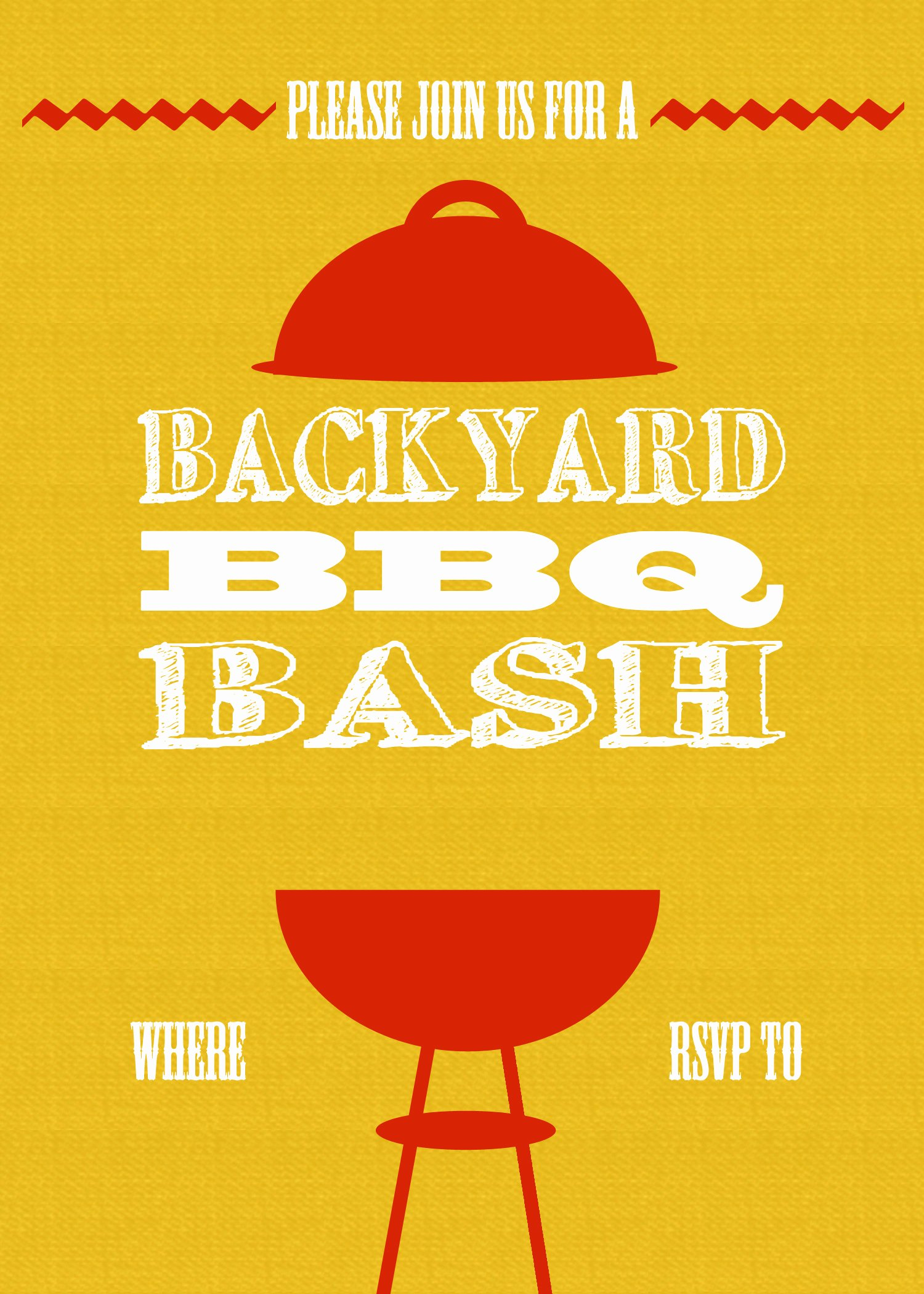 Bbq Invitation Template Word Elegant Diy Printable Backyard Bbq Bash Invite