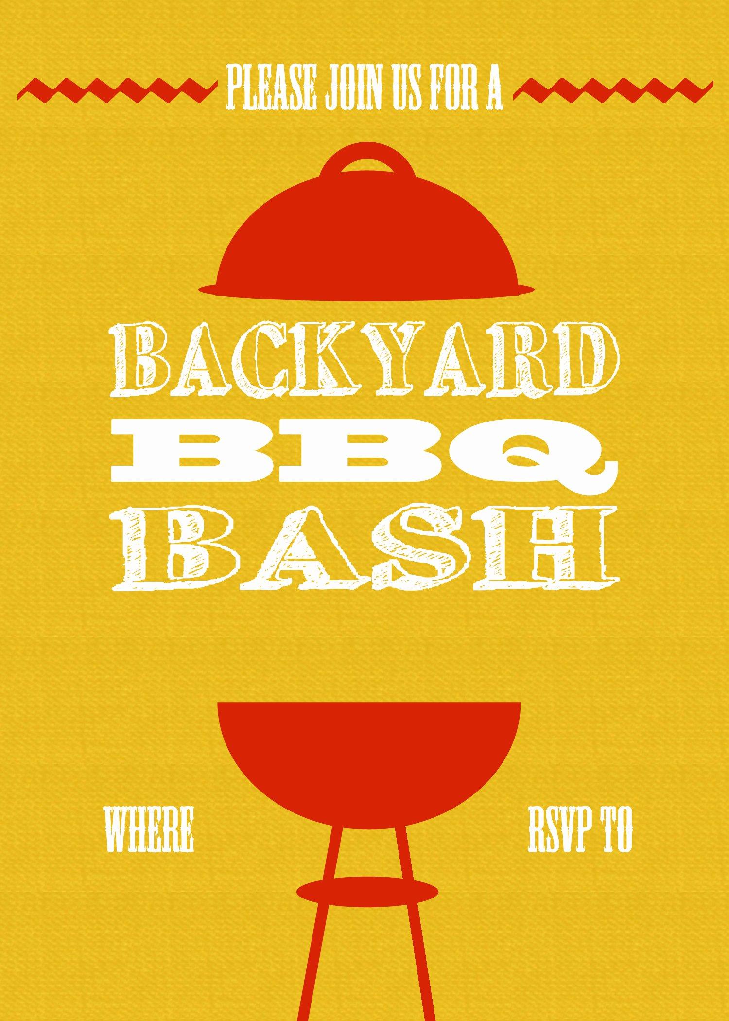 Bbq Invitation Template Word Elegant Diy Printable Backyard Bbq Bash Invite