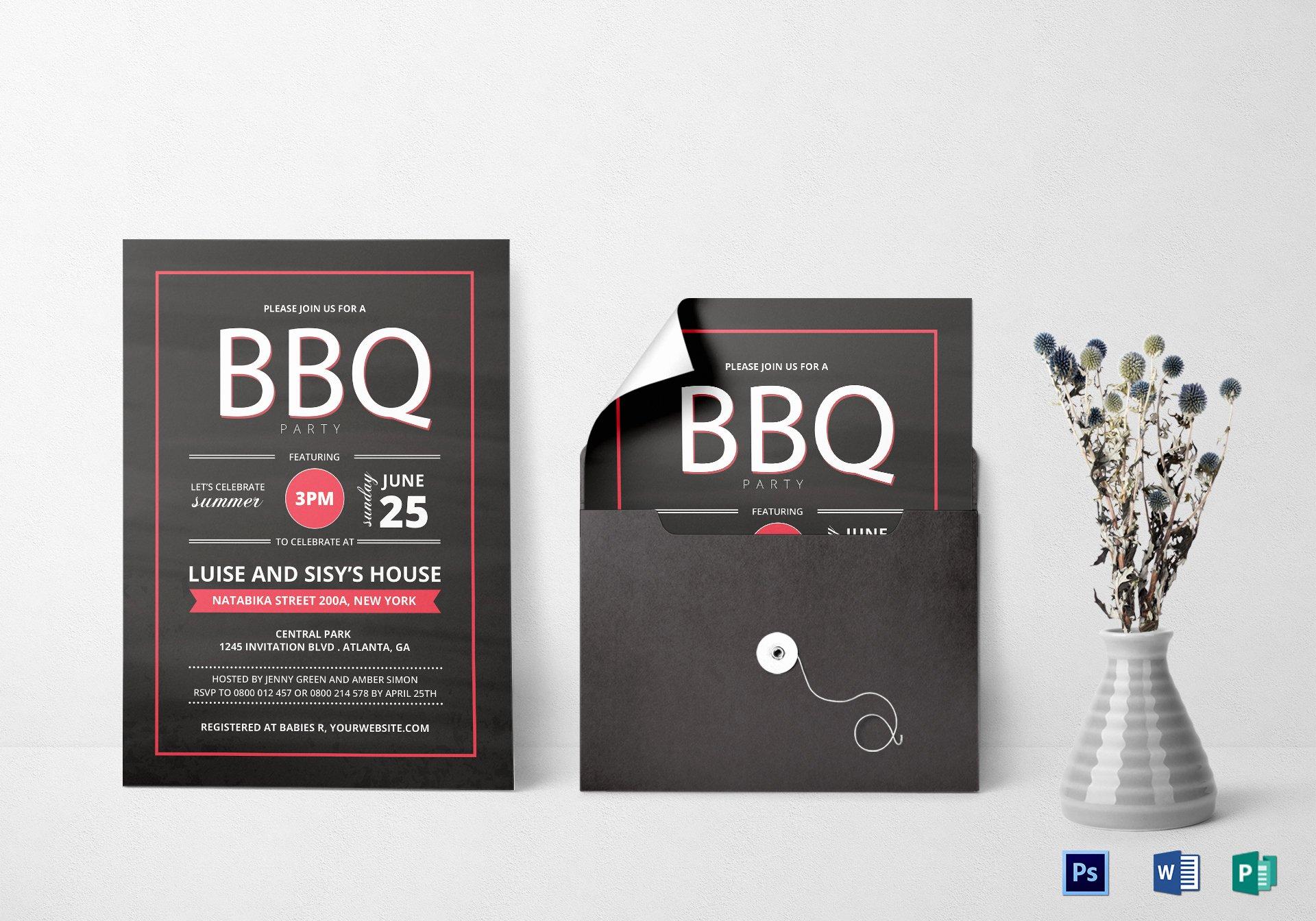 Bbq Invitation Template Word Fresh Summer Bbq Invitation Design Template In Word Psd Publisher