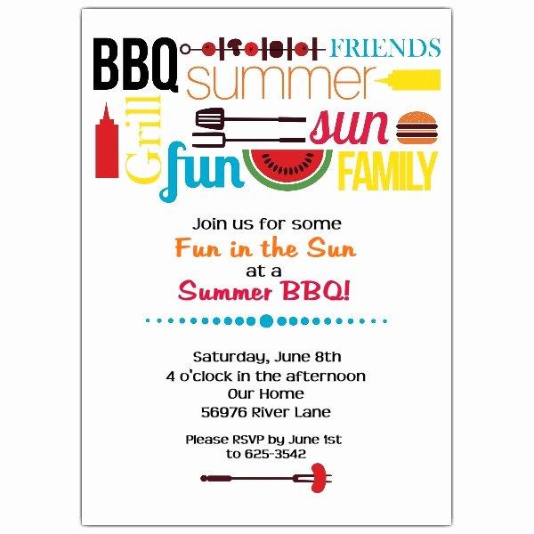 Bbq Invitation Template Word Fresh Summer Bbq Party Invitations