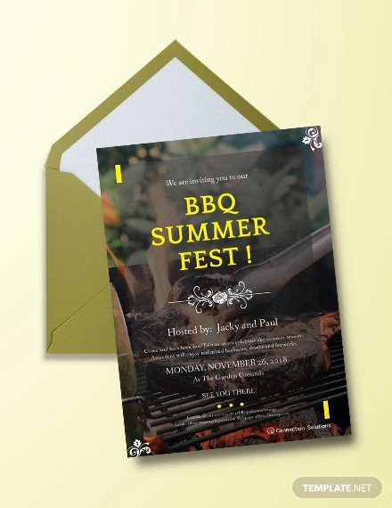 Bbq Invitation Template Word Inspirational 32 Barbeque Invitation Templates Psd Word Ai