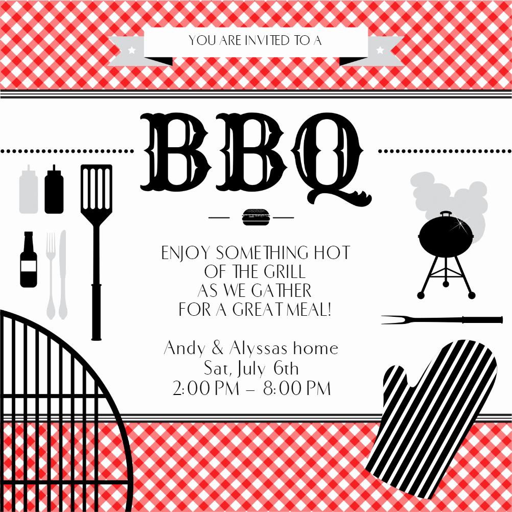 Bbq Invitation Template Word Luxury Bbq Essentials Bbq Party Invitation Template Free