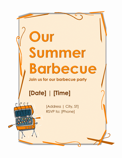 Bbq Invitation Template Word Luxury Bbq Party Invitation Template – Word Templates for Free Download