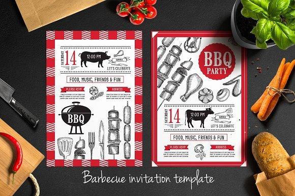 Bbq Invitation Template Word New Barbecue Invitation Template Brochure Templates On Creative Market