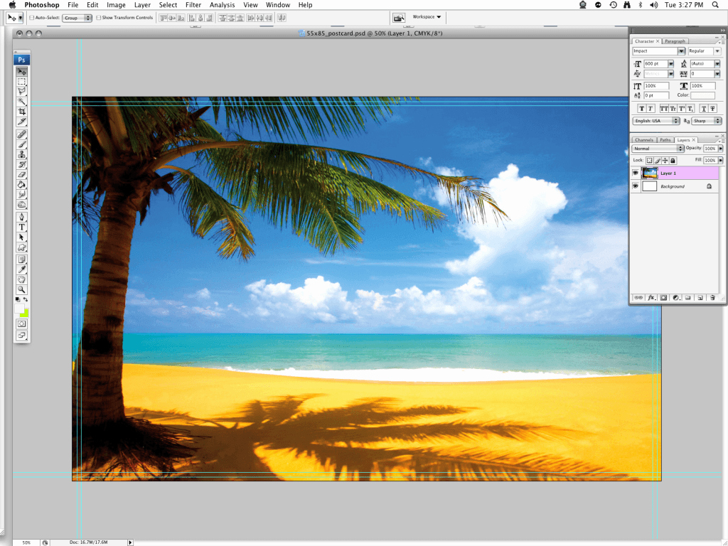 Beach Background for Photoshop Beautiful Create A Simple Holiday Postcard In Shop Using the Clipping Mask Warp tool and Other