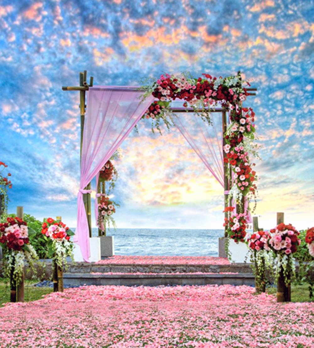 Beach Background for Photoshop Inspirational 2019 Beautiful Sky Clouds Outdoor Scenic Summer Beach Wedding Backdrops Vinyl Romantic Pink