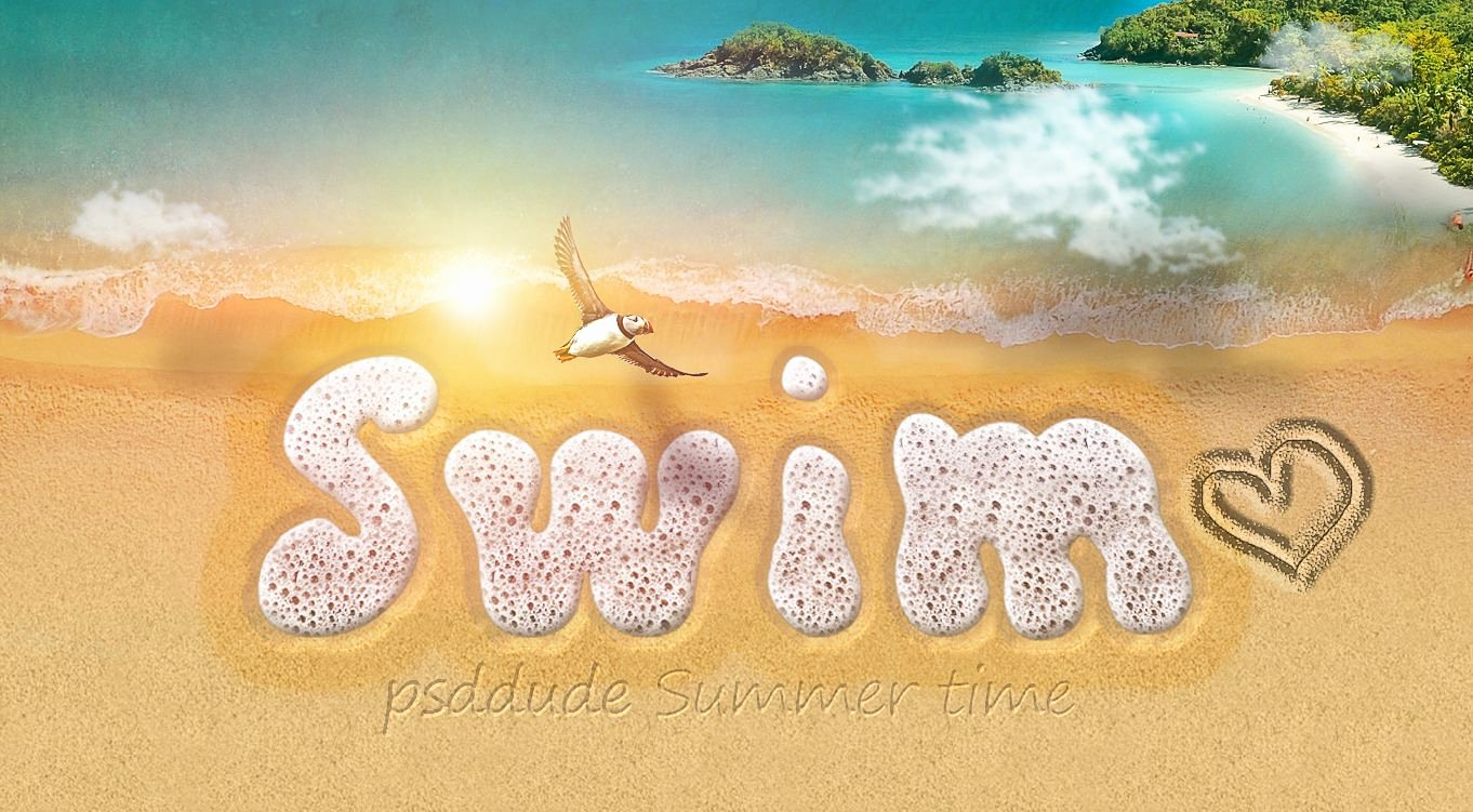 Beach Background for Photoshop Inspirational Start Your Shop Summer Vacation by Learning How to Create This Sea Foam Text Style with