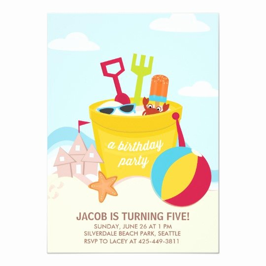 Beach Birthday Party Invitations Awesome A Beach Party Kid S Birthday Party Invitation