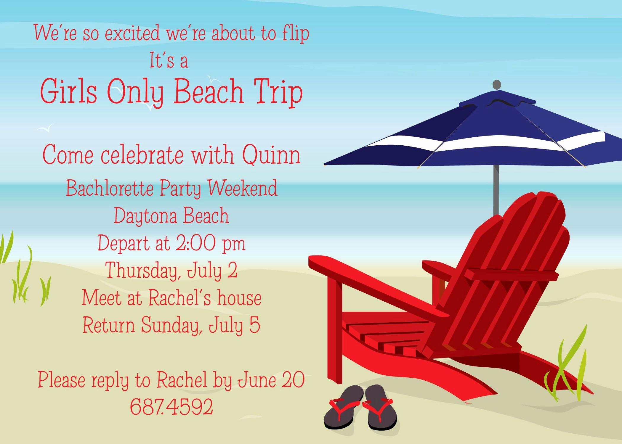 Beach Birthday Party Invitations Beautiful Beach Party Invitation Card and Invitation Ideas
