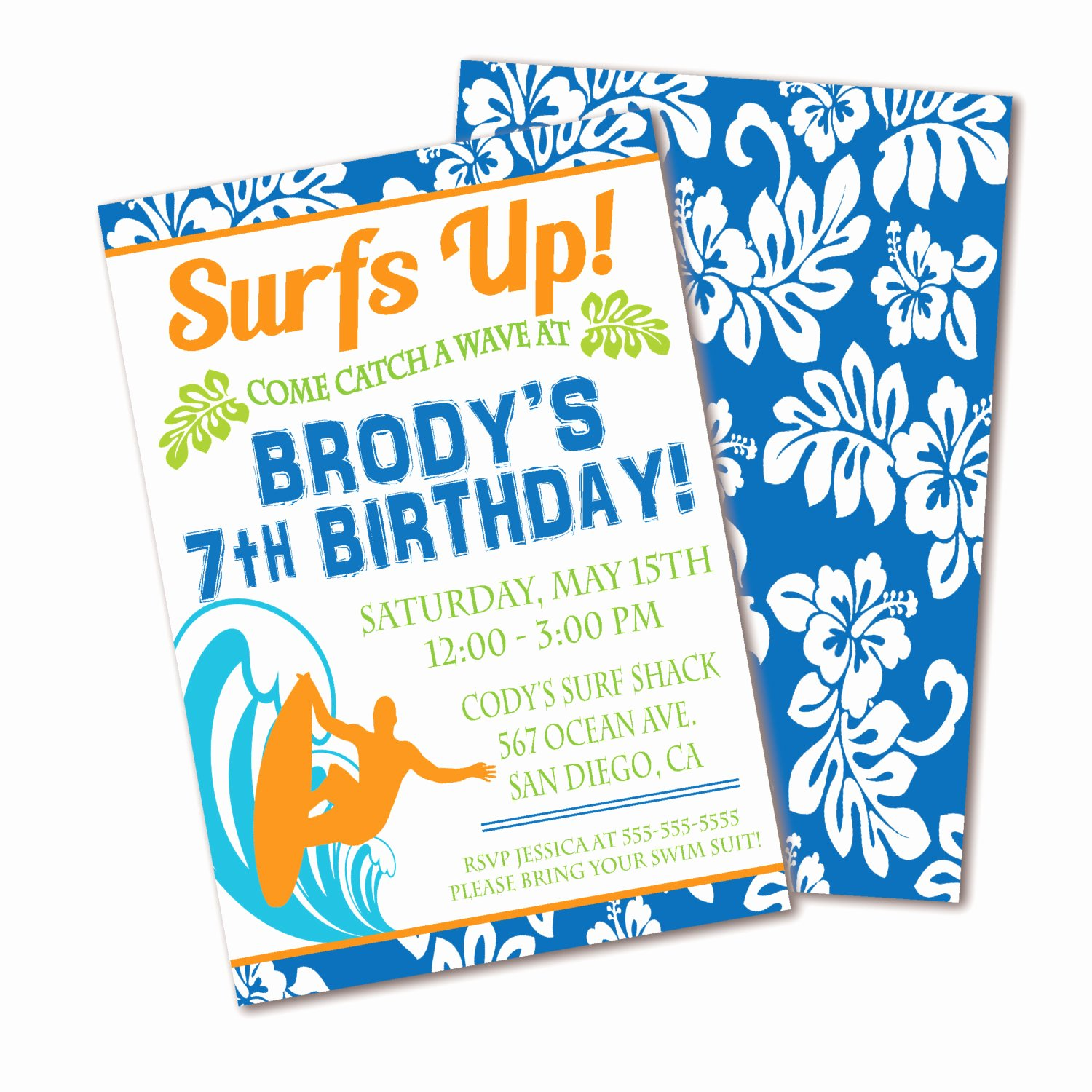 Beach Birthday Party Invitations Best Of Surf Birthday Invitation Beach Party Boys Birthday Party