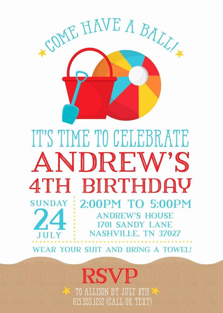Beach Birthday Party Invitations Elegant Best 25 Beach Party Invitations Ideas On Pinterest