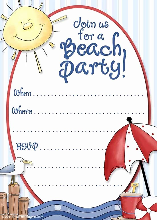 Beach Birthday Party Invitations Inspirational Party Invitation Template Download In Psd Pdf
