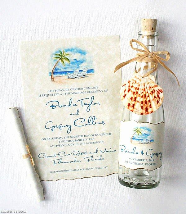 Beach Wedding Invitation Templates Awesome Beach Wedding Invitation Unique Invitation Destination