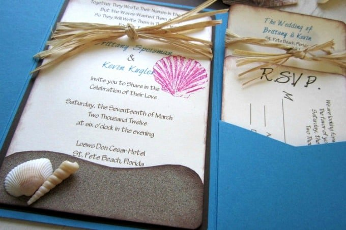 Beach Wedding Invitation Templates Awesome Beach Wedding Invitation Wording