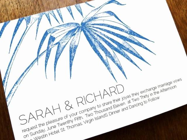 Beach Wedding Invitation Templates Beautiful Printable Wedding Invitation Template Palm Navy Palm Wedding Invitations Instant Download