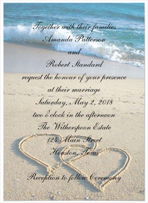 Beach Wedding Invitation Templates Inspirational 26 Beach Wedding Invitation Templates Psd Ai Word