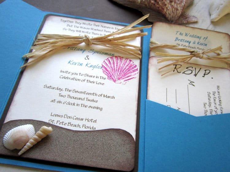Beach Wedding Invitation Templates Lovely Beach Wedding Invitation Wording
