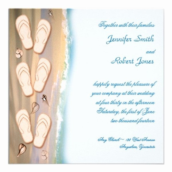 Beach Wedding Invitation Templates Lovely Seal and Send Beach Wedding Invitations to Set the tone for Your Beach theme Weddings