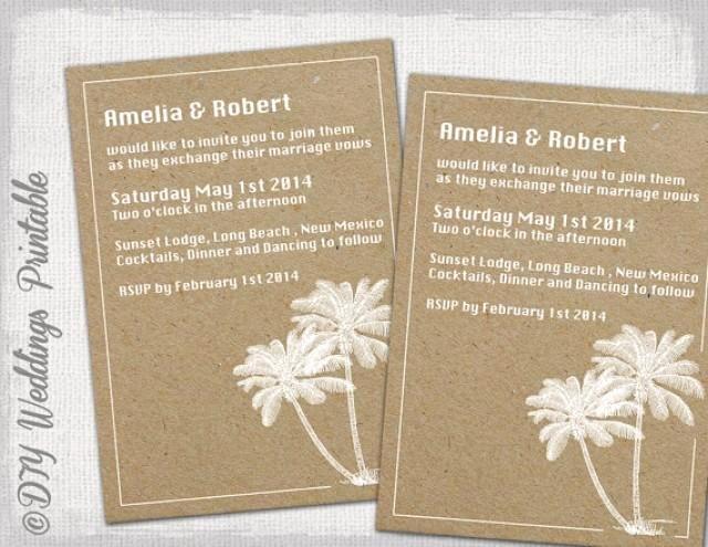 "Beach Wedding Invitation Templates Luxury Printable Beach Wedding Invitations Template ""destination"" You Edit Instant Download Invite"