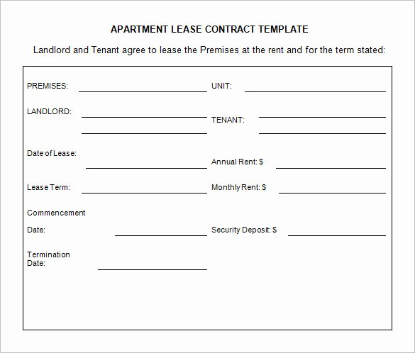 Beat Lease Contract Template Best Of 11 Lease Contract Templates Free Word Pdf Documents Download