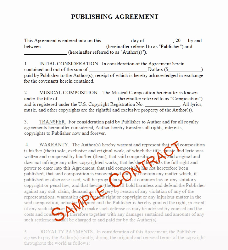 Beat Lease Contract Template Inspirational Free Music Contracts Protect Your Brand 1 Music Agency