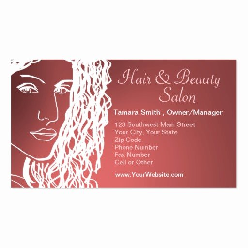 Beauty Salon Business Card Inspirational Hair & Beauty Salon Business Card Templates