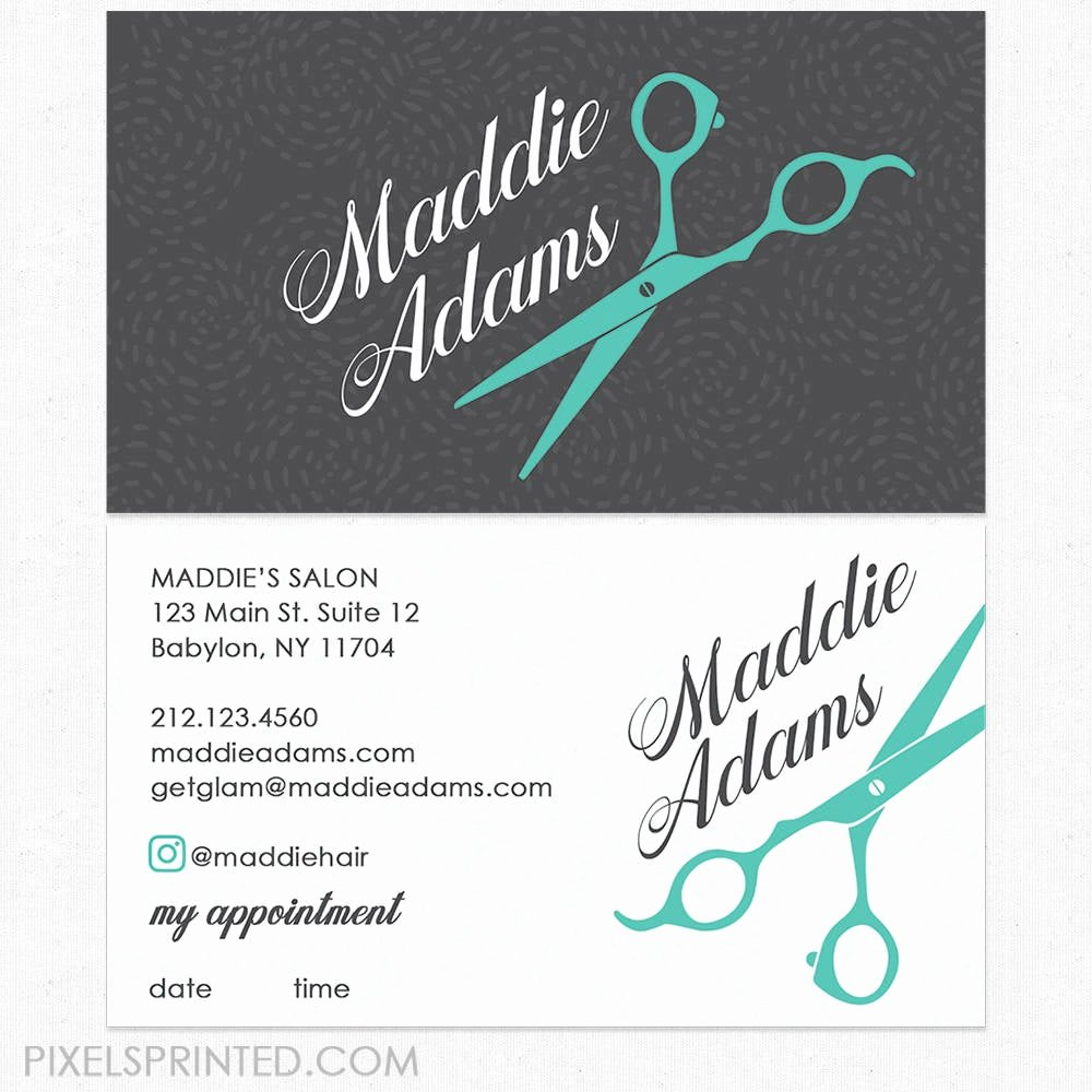 Beauty Salon Business Card Lovely Hairstylist or Hair Salon Business Cards Color Both Sides
