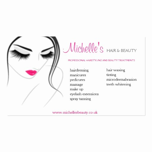 Beauty Salon Business Card New Hair & Beauty Salon Business Card Design