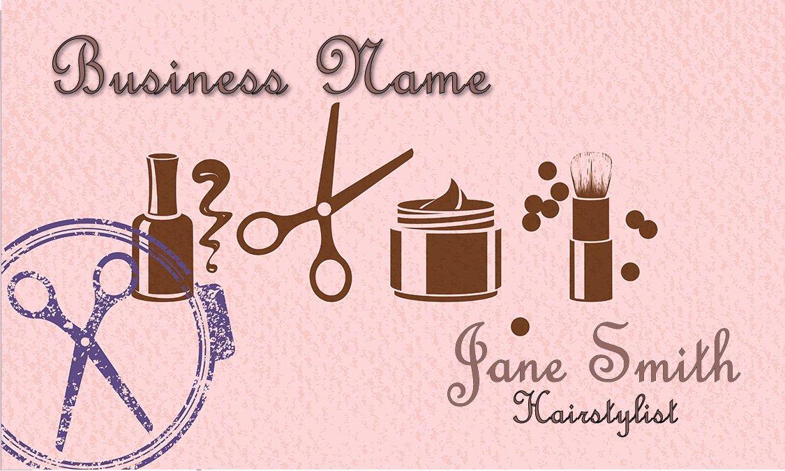 Beauty Salon Business Cards Fresh Letterpress Style Beauty Salon Business Card Design