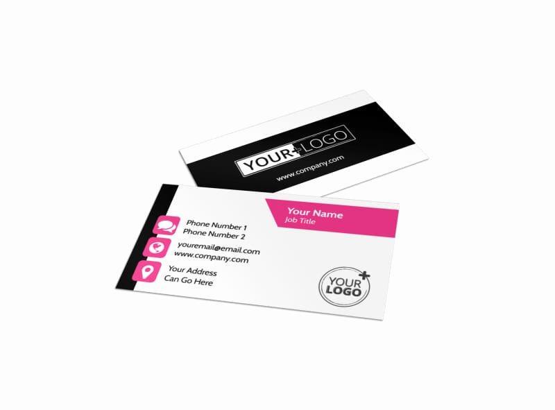 Beauty Salon Business Cards Luxury Beauty Queen Salon Business Card Template