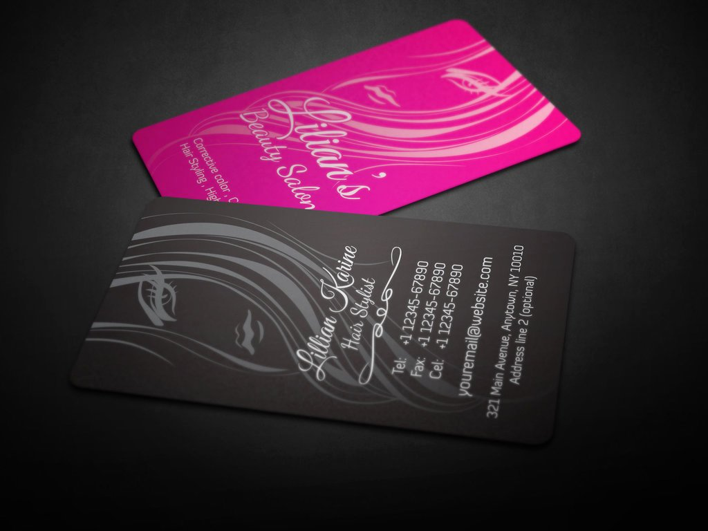 Beauty Salon Business Cards Unique 30 Most Stylish Fashion Business Card Designs