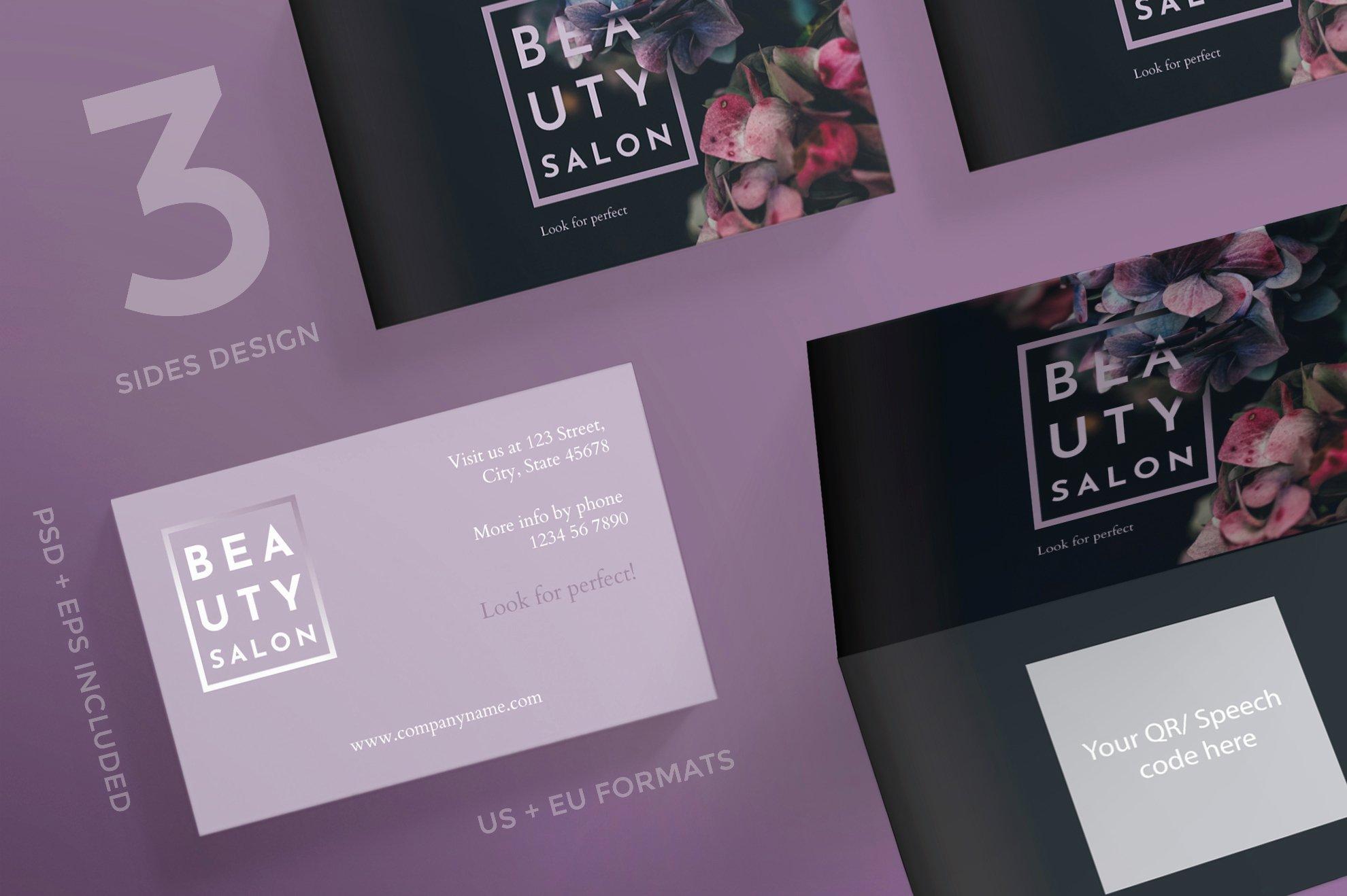 Beauty Salon Business Cards Unique Beauty Salon Business Card Design Templates Kit